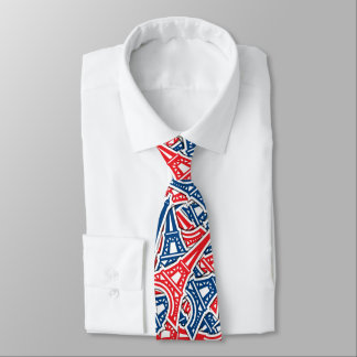 Cravates Tour Eiffel, motif de la France