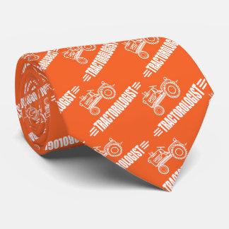 Cravates Tracteur orange drôle