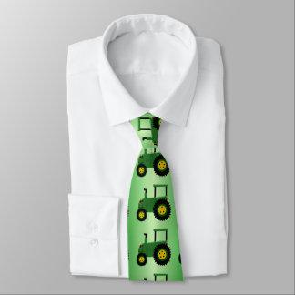 Cravates Tracteur vert