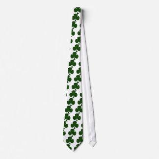 Cravates Trèfle irlandais simili cuir