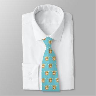 Cravates Vache des montagnes petite à Hamish (bleu d'oeufs