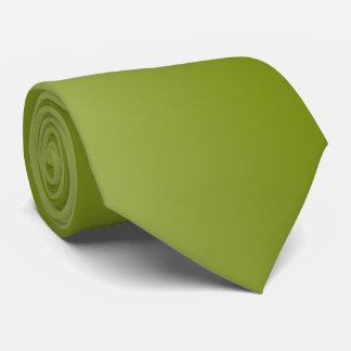 Cravates Vert olive avec le dos