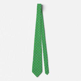 Cravates vertes pour le pois de bleu des hommes