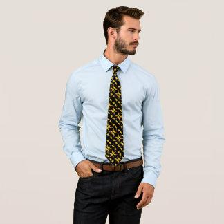 Cravates Visage éffrayant de citrouille sur le satin noir