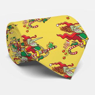 Cravates Vol de sorcière de Halloween sur un sucre de canne