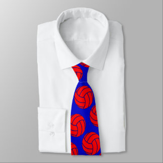 Cravates Volleyball rouge + Tout entraîneur ou joueur de