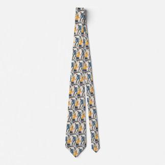 Cravates Voyage vintage, art déco, hiver Davos Suisse