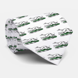 Cravates Whippet de lévrier courant l'emblème héraldique de