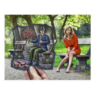 Crayon contre l'appareil-photo - monsieur de carte postale