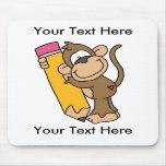Crayon fait sur commande Mousepad de singe - perso Tapis De Souris