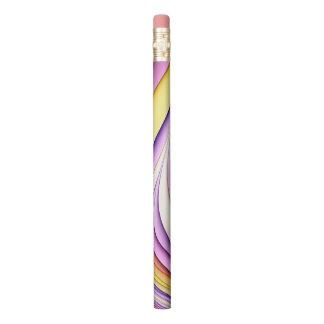 Crayon Fractale colorée par pastel. Jaune, rose, pourpre