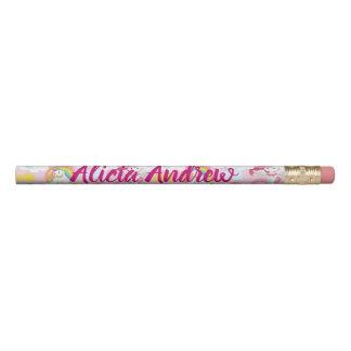 Crayon La jolis licorne et arcs-en-ciel ajoutent votre
