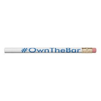 Crayon #OwnTheBar d'examen du barreau de BARBRI