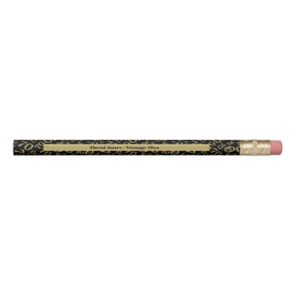 Crayon Personnalisez le soixante-dixième or/cadeau noir
