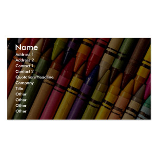Crayons Carte De Visite Standard