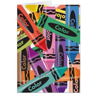 Crayons - carte de voeux
