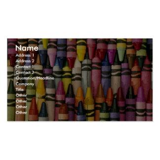 Crayons colorés cartes de visite personnelles