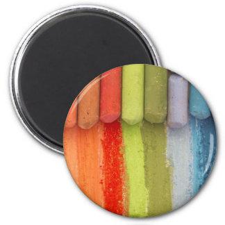 crayons colorés magnet rond 8 cm