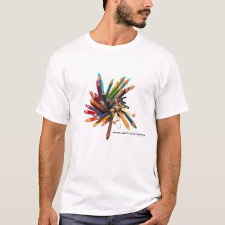 Crayons d'huile colorés par artistes t-shirt