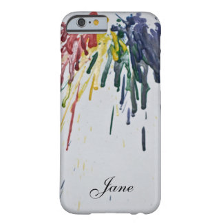 Crayons fondus personnalisables coque iPhone 6 barely there