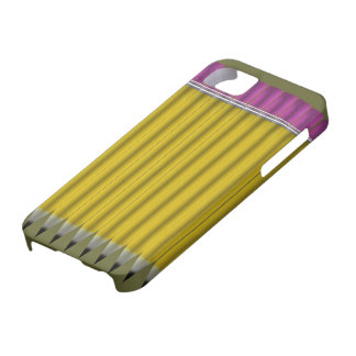 Crayons jaunes coque barely there iPhone 5