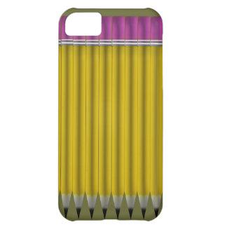 Crayons jaunes coque iPhone 5C