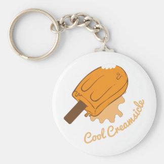 Creamsicle frais porte-clé rond