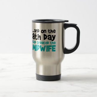 Création de sage-femme mug de voyage