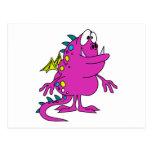 créature rose mignonne de monstre de dragon cartes postales