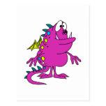 créature rose mignonne de monstre de dragon carte postale