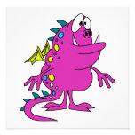 créature rose mignonne de monstre de dragon bristol personnalisé
