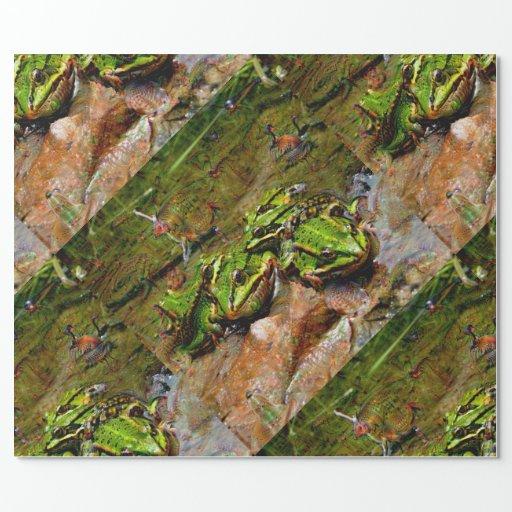 Cr atures r veuses grenouille deepdream papier cadeau - Papier cadeau personnalise ...