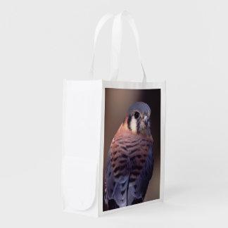 crécerelle, faucon sacs d'épicerie réutilisables