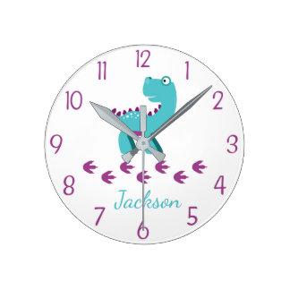 Crèche de dinosaure ou horloge murale d'enfants