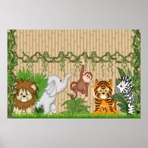 cr che murale de b b d 39 affiche de mur de tigre de zazzle. Black Bedroom Furniture Sets. Home Design Ideas