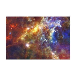 Crèche stellaire dans les nébuleuses de rosette toiles