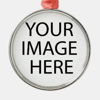 Créez et personnalisez votre propre coutume ornement rond argenté