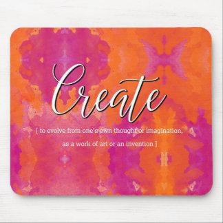 Créez la conception inspirée d'aquarelle tapis de souris