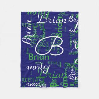 créez le bleu nommé de typographie de garçon couverture polaire
