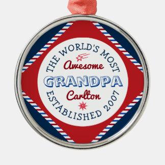 Créez le logo du grand-papa le plus impressionnant ornement rond argenté