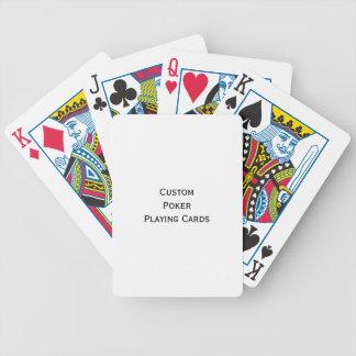 Créez le paquet de cartes fait sur commande de jeu jeu de 52 cartes