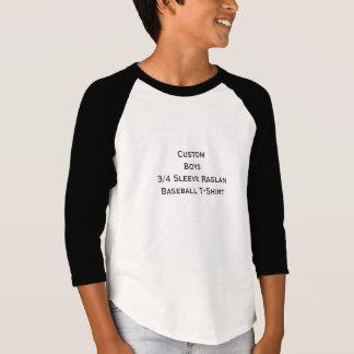 Créez les garçons faits sur commande 3/4 pièce en t-shirt
