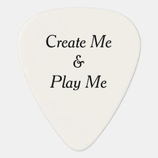 Créez-moi et jouez-moi a personnalisé le plectre onglet de guitare