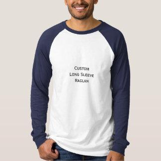 Créez raglan fait sur commande de base-ball de la t-shirt