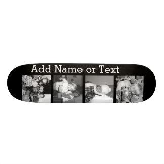 Créez un collage d'Instagram avec 4 photos - noir Skateboards Personnalisés