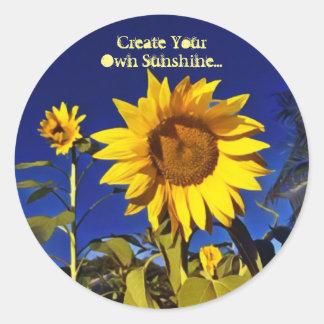 Créez vos propres autocollants de soleil-Tournesol