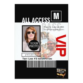 Créez vos propres manières du passage 8 de VIP de Carton D'invitation 12,7 Cm X 17,78 Cm