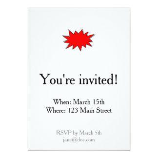 Créez vos propres onomatopées de super héros ! carton d'invitation  12,7 cm x 17,78 cm
