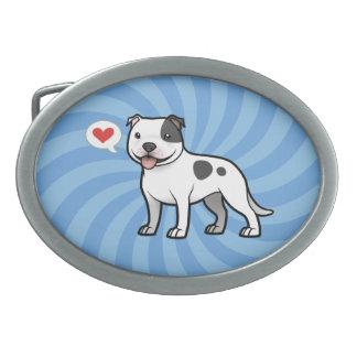 Créez votre propre animal familier boucle de ceinture ovale