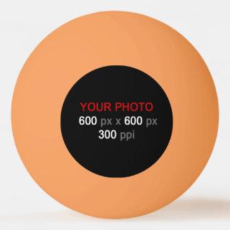 Créez votre propre boule de ping-pong orange de balle tennis de table
